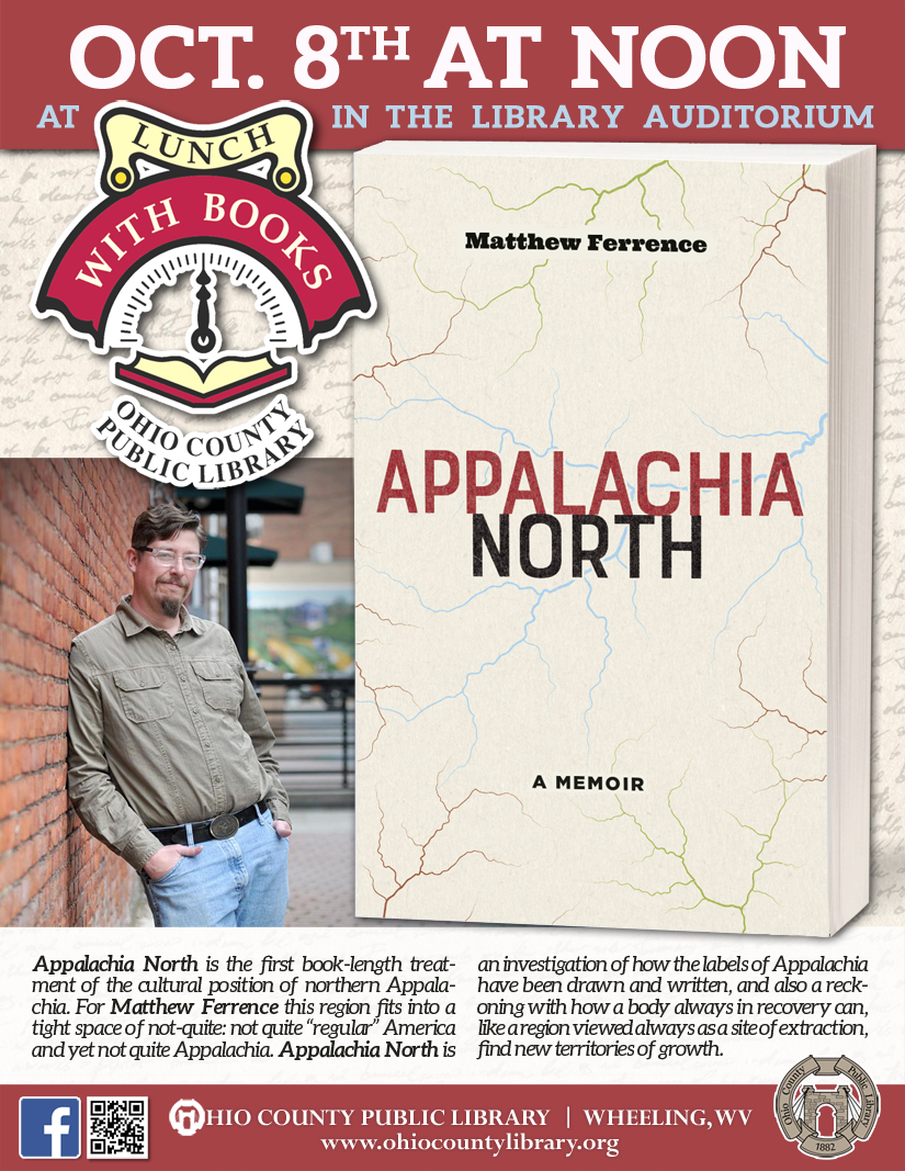 Lunch With Books: October 8 at noon - Appalachia North: A Memoir