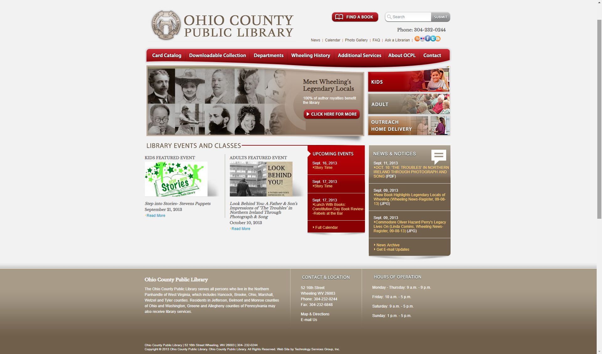 2013 OCPL website screenshot