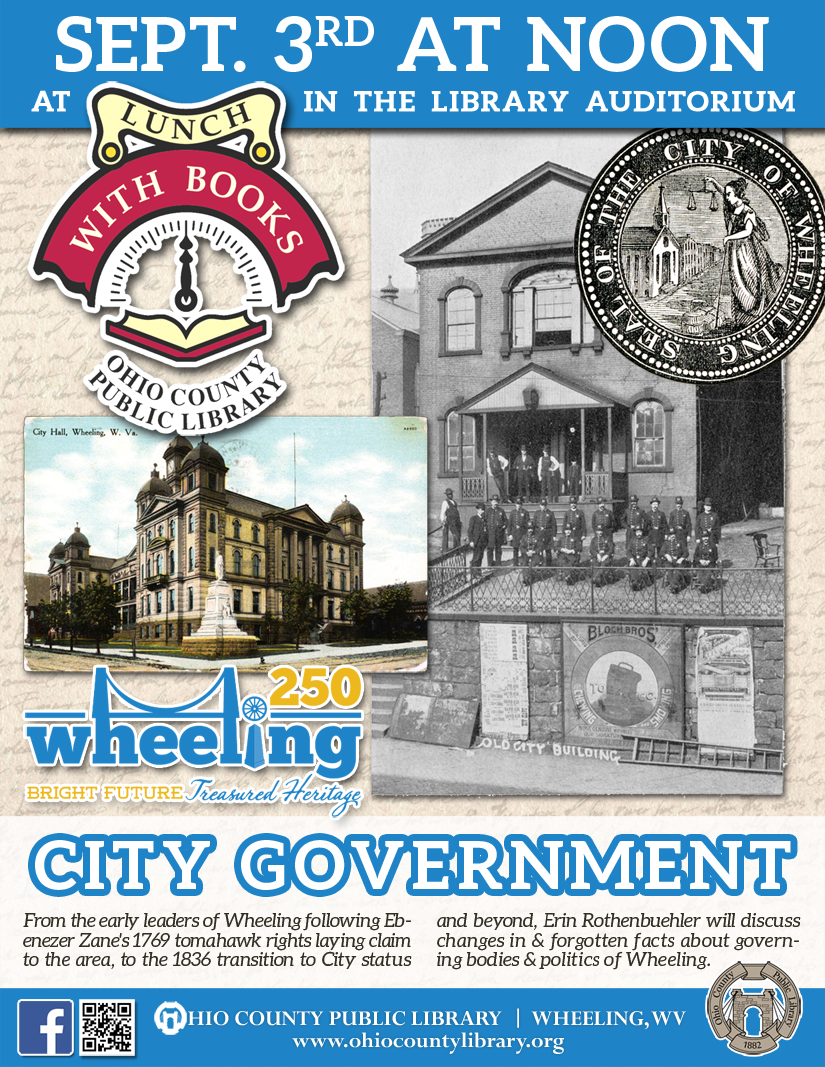 Lunch With Books: September 3 at noon - Wheeling 250 - City Government