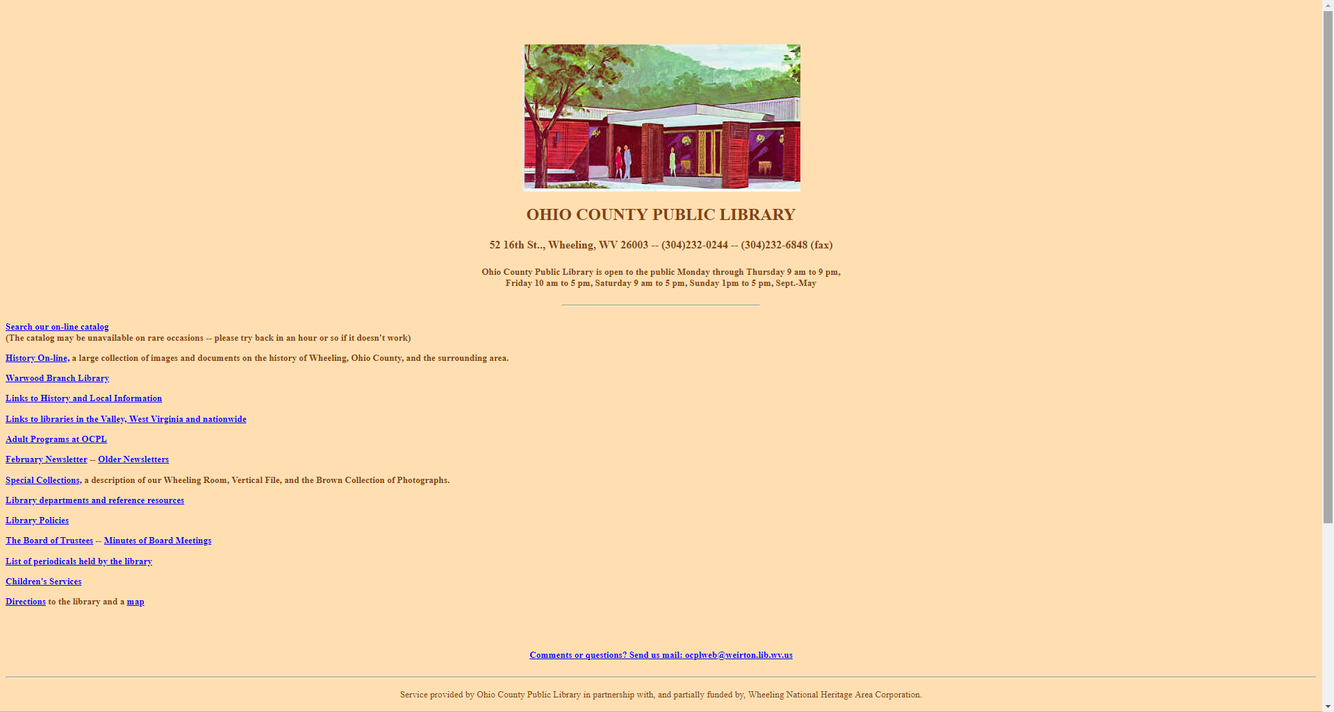 1995 OCPL website screenshot