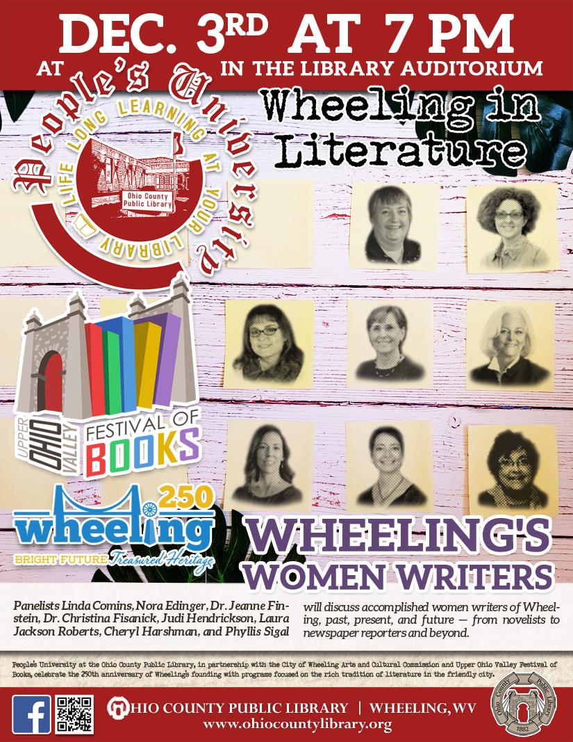 People's University: December 3 at 7 pm - Wheeling in Literature: Wheeling's Women Writers