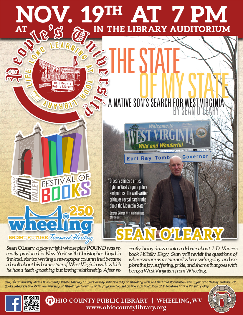 People's University: Nov. 12 at 7 pm - Wheeling in Literature with Marc Harshman
