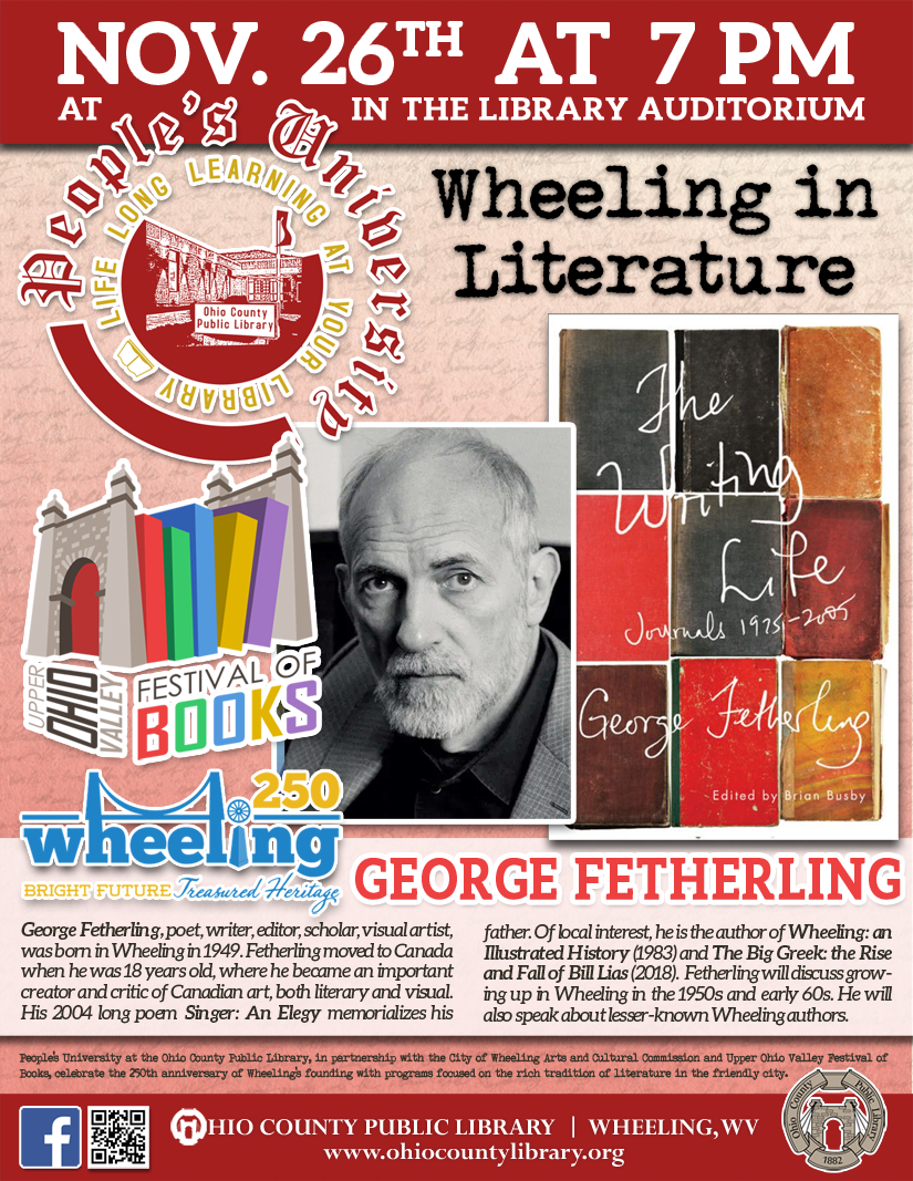 People's University: Nov. 26 at 7 pm - Wheeling in Literature with George Fetherling