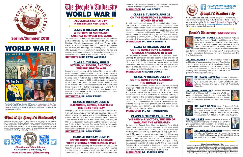 People's University - Summer 2018: World War II